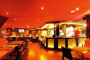 Auch die Räume der Gastronomie wurden durch hochwertige Trockenbauarbeiten ästhetisch deutlich aufgewertet<br />Fotos: Saint-Gobain Rigips<br />