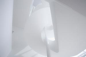 Blick in die Spiraltreppe von unten nach oben<br />