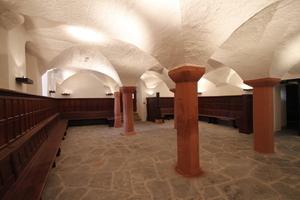 In der Ebene 0 wartet der einstige Hilchenkeller mit seinen Gewölbedecken noch auf eine gastronomische Nutzung<br />