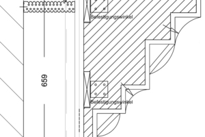 Detail Gesims, Maßstab 1:5Zeichnung: Knauf