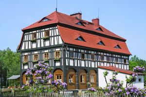 Das in Zgorzelec/Görlitz wieder aufgebaute und frisch restaurierte Stellmacherhaus