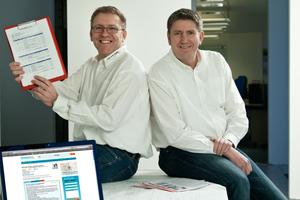 """""""Ohne die Zugehörigkeit zu Einer.Alles.Sauber gäbe es die Firma nicht mehr"""", sagen die Bauunternehmer Ludwig und Michael Fiedler (von links), Netzwerk-Partner seit mehr als 12 Jahren Fotos: Einer.Alles.Sauber"""