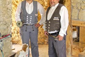 Sohn Georg Dengel und Vater Hubert Dengel von der Dengel-Bau GmbH aus Schöntal-Berlichingen<br />