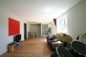 Blick vom Musik- und Arbeitszimmer aus in Richtung der Treppe