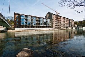 In der Rosenau in Kempten wird nach Abschluss der Arbeiten am Haus B (links im Bild) nun der große Gebäudekomplex C saniert (rechts im Bild)<br />Foto: ROI Projektbau<br />