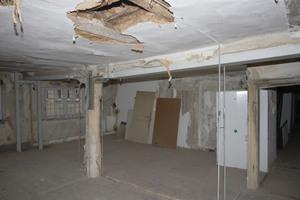 """Obergeschoss der Gaststätte """"Zum Ross"""" mit Mittelstütze"""