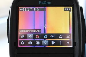 Die E40bx bietet zahlreiche Einstellmöglichkeiten, Messprogramme...