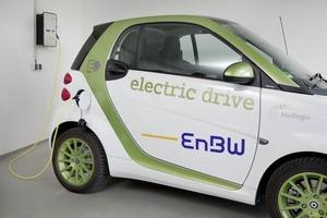 Die Überschüssige Energie der Photovoltaikanlage auf dem Dach wird in ein Elektroauto eingespeist<br />