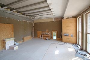 Zurzeit wird der Saal als Teil der 800 m2 großen Galeriewohnung umgebaut Foto: Thomas Wieckhorst