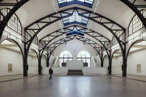Die historische Halle mit ihren Stahlfachwerkbindern<br />