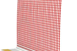 1 Anputzleiste Entkoppelt: selbstklebendes Kunststoffprofil mit komprimiertem PUR-Dichtband und Gewebe