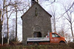 Der Bestand der Pius-Kapelle bei Balve war durch Feuchtigkeit stark gefährdet Fotos: Jörg Roland