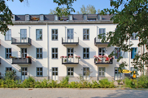 Blick auf die Südfassade von Haus 1 auf dem Gelände der 1936 als Luftgaukommando III an der heutigen Berliner Clayalle erbauten Verwaltungs- und Kasernenanlage Foto: Thomas Wieckhorst