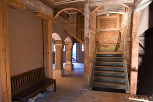 Gewölbedecken im Erdgeschoss mit Treppe ins Obergeschoss<br />