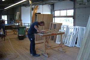 Auf Grundlage von originalen Maßen wurden die Fenster in der eigenen Werkstatt nach historischem Vorbild angefertigt Foto: Fachwerkstatt Drücker & Schnitger
