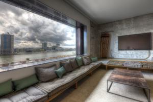 Blick in eines der Zimmer im Hotel Speicher 7