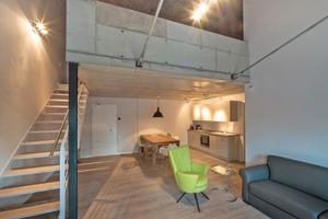 """In der Kammgarnspinnerei befinden sich heute 15 moderne Ferien-Loft-Wohnungen<span class=""""bildnachweis"""">Fotos: Unger Diffutherm</span>"""