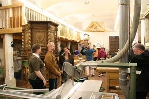 Blick in die Tischlerwerkstatt der Akademie des Handwerks im Schloss Raesfeld<br />