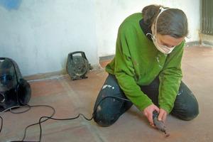 … und beim Versuch, den alten Steinholzboden noch zu retten<br />