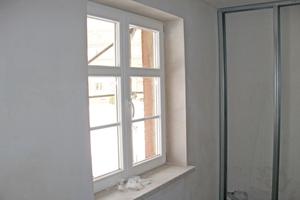 """Auch die Wände zu den unbeheizten Treppenhäusern und Fluren wurden gedämmt<span class=""""bildnachweis"""">Foto: Knauf Aquapanel</span>"""
