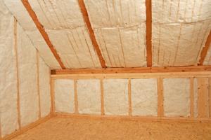 """""""Pureone"""" eignet sich als Zwischensparrendämmung. So werden Energieverluste über das Dach begrenzt"""