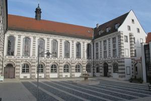 Der Bibliothekshof nach Abschluss der Fassadensanierung<br />