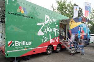 Malerhandwerk auf Tour: Der Truck macht Halt in vielen deutschen Städten Foto: Markus Nilling/Brillux