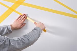 Streifen oder Flächen anzeichnen und abkleben