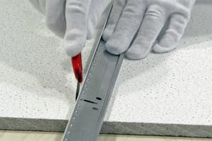 Anschnitte mit Cuttermesser zuschneiden