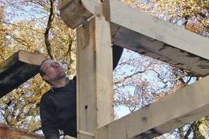 Viel Originalsubstanz: Nur rund 20 Prozent des Holzes mussten bei der Fachwerksanierung ersetzt werden Foto: Fachwerkstatt Drücker &amp; Schnitger <br />