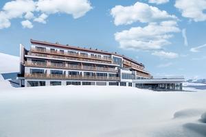 """Das Hotel """"Alpina Dolomites"""" auf der Seiser Alm in Südtirol wurde unter anderem mit Lignatec-Fenstern von Finstral ausgestattet<br />"""