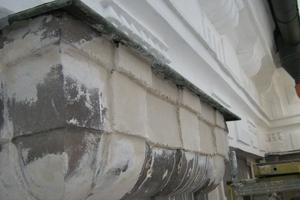 Detail der Fassadensanierung<br />