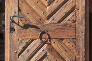 Eine solche Haustür kann auf der Auktion für historische Baustoffe auf der denkmal 2014 in Leipzig ersteigert werden<br />Foto: Florian Langenbeck