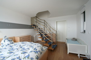 Schlafzimmer der obersten Ferienwohung<br />