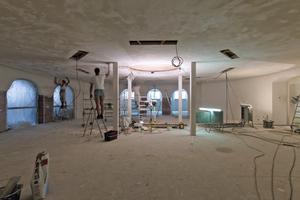Die Wände und Decken verputzten die Handwerker mit einem zweilagigen Kalkputz