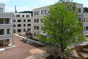 Die Gebäude kurz vor Abschluss der Bauarbeiten<br />