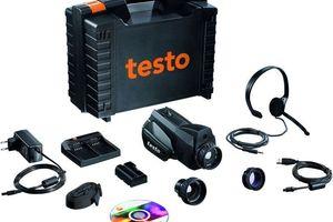 Termografikamera mit Zubehör in einem Koffer von Testo