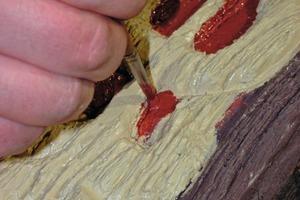 Schlussanstrich im Detail: Kunst am Bau erfordert vom Handwerker eine künstlerische Arbeit