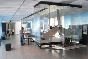 Ausstellungsraum zum Thema Antrieb, Auftrieb und Aerodynamik<br />