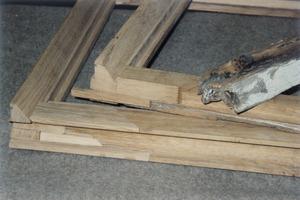 Schadhafte Teile des Fensters müssen in der gleichen Holzart ergänzt werden<br />