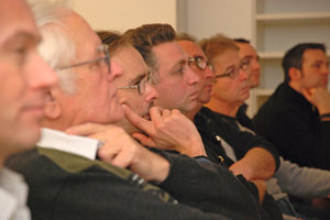 Premiere im Handwerksbildungszentrum Bielefeld: Viele Antworten für die Praxis gab die erste Staffel des bauhandwerk Fachforums zum Thema Energetische Sanierung <br />