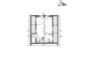 Grundriss Dachgeschoss, Maßstab 1:200